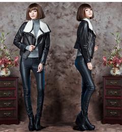 Wholesale 2015 Fashion Autumn Winter High Quality Women s Sexy Slim PU Leather Pants Boots Trousers Thin Pencil pants low waist pants