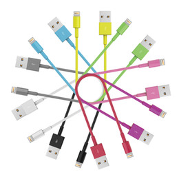 Wholesale MFI Certified Lightning P to USB Sync Charge M for iPhone s c Plus s s iPad Air pro Mini cm Short cable Colors