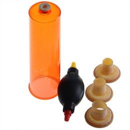 Wholesale Sex Toys Penis Vacuum - Penis Enlargement Vacuum Pump Powerful Air Control Penis Pump Handsome Up Maximum Dick Extension 3 Sleeves Impotence Premature Sex Toys