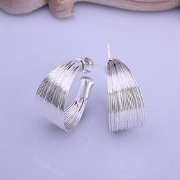 Wholesale 2015 fashion jewelry sterling silver studs earrings for women piercings crystal European and American fashion multi line range of woven