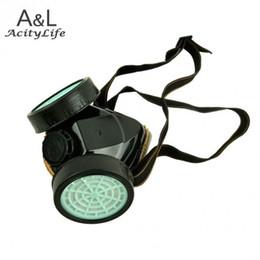 Compra Online Proteger a paintball-La máscara de gas doble protege la mascarilla química del respirador del gas del filtro barato El envío libre 50 máscara suministra la máscara paintball A5