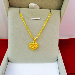 24k Gold Filled Heart-shaped women Pendant Necklace, 18""