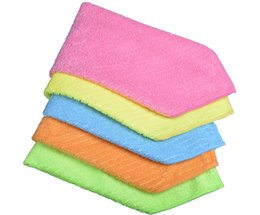 Wholesale Sinland Household Multi purpose Microfiber Cleaning Cloths Kitchen Cloth With Strips Kitchen Towels Inchx12Inch Pieces