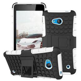 Wholesale S5Q híbrido carcasa a prueba de golpes Armor Rugged Hard Caso de la cubierta del neumático de teléfono soporte de perfil Lumia AAAFOC