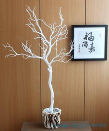 Wholesale 1 Height cm Artificial Green Blue White Plastic small Tree Dried Branch Plant Home Wedding Decoration Gift F322