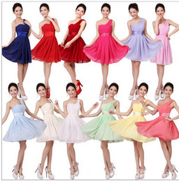 Wholesale Chiffon Gowns For Ladies - Bridesmaid dresses under 50 100 Women's quinceanera dress Wedding Party evening Gowns Formal prom Dress for lady girls Plus size S-XXXL