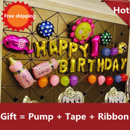 Hot sale Baby 100 days one year birthday decorate children birthday party decoration balloon letters package birthday supplies