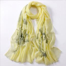 Promotion foulards en coton de marque de gros Nouveau gros arrivée Designer coréenne marque naturelles foulards en coton Hommes et femmes littéraire imprimé rétro foulard Silenciador