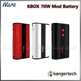100% Original Kanger KBOX 70W TC Mod 4400mah Temperature Control Variable Wattage TC VW 18650 Ecigarette Mod Black Red White Available