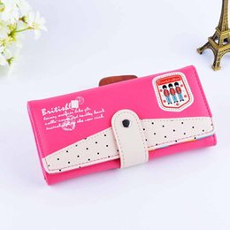 Wholesale 1 Piece Latest Women Wallet Fashion Accessories High Quality Leather Cartoon Cute Candy Color Assorted Colors Hasp Clutch Bag Coin purse