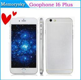 Wholesale New quot Android Phone I6 Plus I6 IPS OGS Screen i6 MTK6572 Dual Core GB GB G GPS Dual Camera Single Nano Sim Card Cellphone