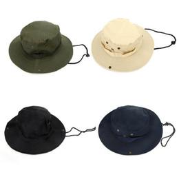 2016 NEW Outdoor Fishing Camping Hiking Sun Cap Round Rim Men Women Hat Drop shipping 4 Colors