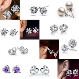 High Grade Silver Earrings Hot Sale Silver Stud Earrings For Women Girl Party Gift Fashion Jewelry Wholesale Free Shipping - 0199WH