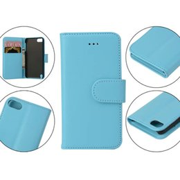 PU Plain Wallet Leather Case For Ipod Touch 6 6G 6th Touch6 5 5G 5th Credit ID Card Stand Holder Purse Pouch caseology Skin Cover