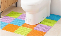 Wholesale Novel carpet DIY free combination non slip mat PVC material waterproof non slip floor mat toilet kitchen