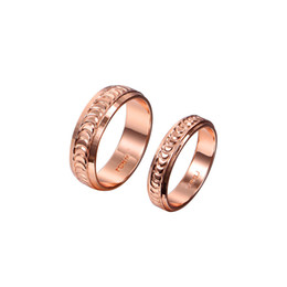 Rose Gold Couple Rings Fashion Promise Engagement Rings for Men and Women R028