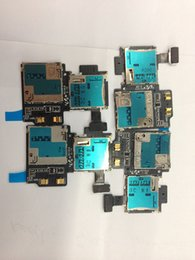 Wholesale 10pcs New SIM Card SD Card Reader Contact Flex Cable ribbon for Samsung Galaxy S4 I337 Sim Card Flex cable