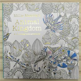 Wholesale Secret Garden Series Animal Kingdom Coloring Book for Adult Kids Creative Therapy Doodling Drawing Books Fedex free