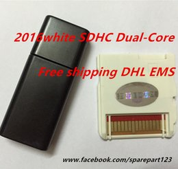 Wholesale 2016 White isdhc SDHC Dual Core Dual Core Game Cards Adapter Flash card cart cartridge DHL FEDEX