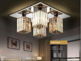 New Arrival 4L Modern Crystal Ceiling Lights For Living Room E27 K9 Crystal Ceiling Lamp Fixtures For Bedroom