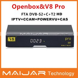 Wholesale Openbox V8 Pro HD Satellite Receiver With DVB S2 T2 C Tuner openbox v8 Pro combo Support USB WiFi G by china post