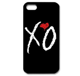 Wholesale Weekend XO Black Back Skin Hard Plastic Mobile Phone Case Cover For Iphone 4 4S 5 5S 5C 6 6 Plus