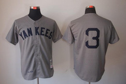 Wholesale 2016 New Throwback Baseball Jerseys NYY Ruth Jersey Gray By M N in stock Size Stitched Mix Order