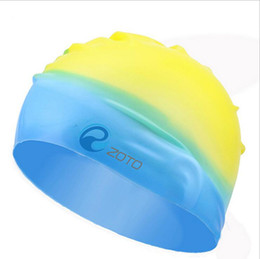 Wholesale Quality Solid Swimming Cap Silicone Swimming Hats Water proof Adult Caps Men Women Color Mixed Colors Skid Conditioner Cap