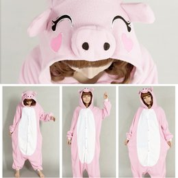 Wholesale New Adult Onesie Unisex Fashion Pajamas Cosplay Japan Costumes Cute Animal Cartoon Piglet Onesies Pyjamas Sleepwears Pink Pig