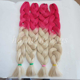 Kanekalon Jumbo Braid Hair 82inch 165grams Red&Blonde 613# Ombre two tone color xpression synthetic braiding hair extension in stock
