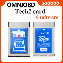 Wholesale DHLHottest MB CARD FOR GM TECH2 for Opel ForGM SAAB ISUZU Suzuki Holden original gm tech2 mb card MB Memory GM Tech Cardi