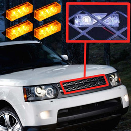 Wholesale 12 LED Amber Vehicle Emergency Flash Light Strobe Lights Car Flash Warning Lights for Front Grille Deck K2696