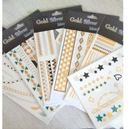 Wholesale OPHIR Silver amp Gold Tattoo Metallic Temporary Tattoo for Woman Beauty stickers america sticker girl