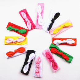 baby headbands Colored Rabbit Ears Explosion Models New Baby Scarf Children Elastic Cloth Headband 12 Colors