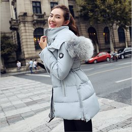 New Winter Women Clothes 2015 Fashion Women Winter Coats Long Down Thicken Slim Cotton Down Padded Jacket Coat Hooded Fur Collar Down Parkas