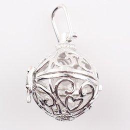 Wholesale 9 Styles Harmony Bola Pendant Hollow Cage Baby Caller Locket Aromatherapy Perfume Diffuser Float Locket JJAL C70