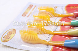 Wholesale Hot Healthy and Eco friendly Yellow Double Ultra Soft Toothbrush Bamboo Charcoal Nano Brush Oral Care
