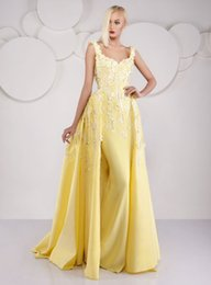 Long Mermaid Evening Dresses 2016 Sweetheart Neckline Floor Length Yellow dress party evening Appliques Beaded Weddings & Events