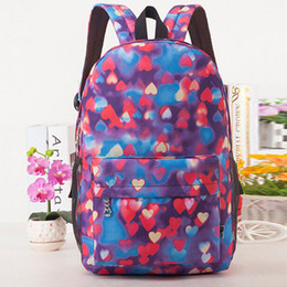 Wholesale-2015 New Fashion Girls School Backpack Women Travel Hiking Casual Rucksack Canvas School bags For Teenagers