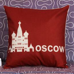 Wholesale-Printed romantic capital city linen pillow cover, Home decorative pillow cases CC2578