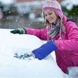 Hard Ice Snow Scraper Hand Protectr Plastic Handle Mitten Glove Ice Snow Scraper Cleaning Winter Tool