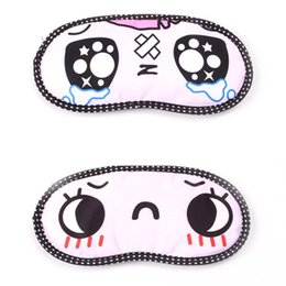 Wholesale Sleep Mask Cartoon Eyes - Top Seller Eyeshade Comfort Sleep Rest Travel Masks Cartoon Eye Shield Blindfold Polyester Ice Pack JH40-01 Free Shipping