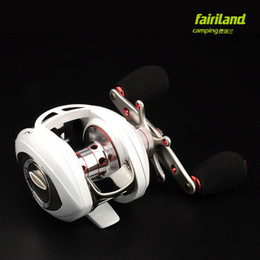 Wholesale 9BB RB baitcasting fishing reel bait casting reel white embellished with red low profile best baitcaster reel