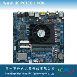 Wholesale M433 ITX HCMT3X21A AMD Kabini Quad core Embedded Motherboard COM SATA USB3 USB2 GPIO Mini PCIE SD Slot V DC DDR3