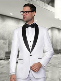 2015 New Arrival White Tuxedos men wedding suits Cheap Jacket+Pants+Tie+Vest mens tuxedos Groom Suits Best men suits