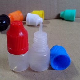 PE E cig Liquid Needle Bottles 3ml Plastic Dropper Bottles Eye Dropper Bottles with Childproof Safety Cap and Long Thin Dropper tip 500pcs
