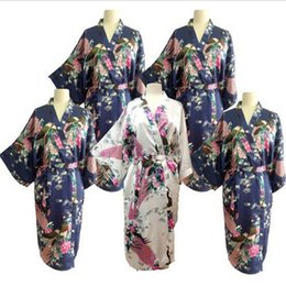 Wholesale-New Silk Wedding Robes Bathrobe Women Silk Robes For Bridesmaids Long Bathrobe Kimono Dressing Gown Peignoir Femme Bridesmaids