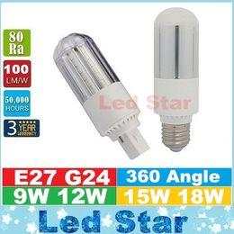 E27 ce smd en Ligne-G24 E27 ampoules lumineuses led 360 ° High Power 9W 12W 15W 18W SMD 2835 Led Corn Lights AC 85-265V ce ul csa