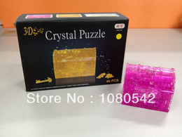 Wholesale-Treasure chest 3D Crystal Puzzle DIY Educational Jigsaw Model Toy