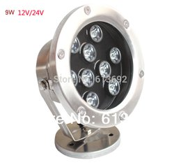 Wholesale-waterproof IP68 12V 24V 9W Led Underwater light underground Pool fountain light,red,yellow,green,blue,white,RGB for option